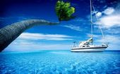 Paradise by boat — Stock Photo