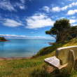 Bench with a view of paradise — Stock Photo #11860574