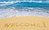 Welcome to the Beach — Stock Photo