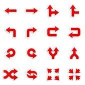 Autocollants de flèches. jeu d'icônes vectorielles. — Vecteur