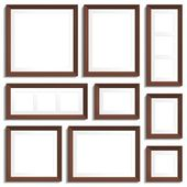 Wenge frames set — Stock Vector