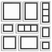 Empty modern frames — Stock Vector