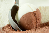 Scoop of ice cream — Stock Photo
