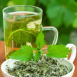 Stock Photo: Nettle tea