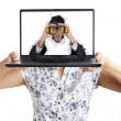 Shocked businessman from laptop — Stock Photo #11061568