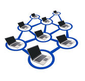 Isolated computer network — Stock Photo