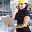 Attractive female architect at workplace — Stock Photo #11164826