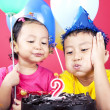 Asian kids celebrating birthday — Stock Photo #11165741