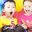 Stock Photo: Fifth birthday party