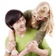 Romantic young couple — Stock Photo