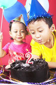 Second birthday party — Stock Photo