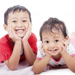 Stock Photo: Cute sibling posing