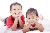 Cute sibling posing — Stock Photo