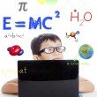 Stock Photo: Solving of physics formula