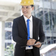 Inspector at construction site — Stock Photo #11635653