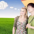 Couple with dream house — Stock Photo #11788171