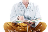 Devout man reading quran — Stock Photo
