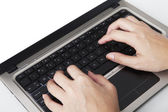 Closeup of hands typing — Stock Photo