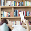 Reading novel — Stock Photo