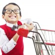 Shopping for back to school - Stok fotoğraf
