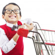 Shopping for back to school - Zdjęcie stockowe