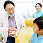 Education to keep dental hygienist — Stock Photo