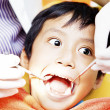 Stock Photo: Examining of oral cavity