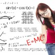 Stock Photo: Solution of math and physics formula