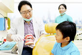 Education to keep dental hygienist — Stock Photo