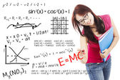 Solution of math and physics formula — Stock Photo