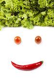 Gemüse gesicht — Stockfoto