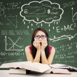 Stressed Asian Female Student — Stock Photo