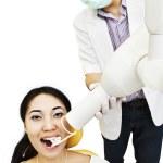 Dentist taking an X-ray — Stock Photo #12390919