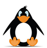 Penguin toy in vector — Stock Vector