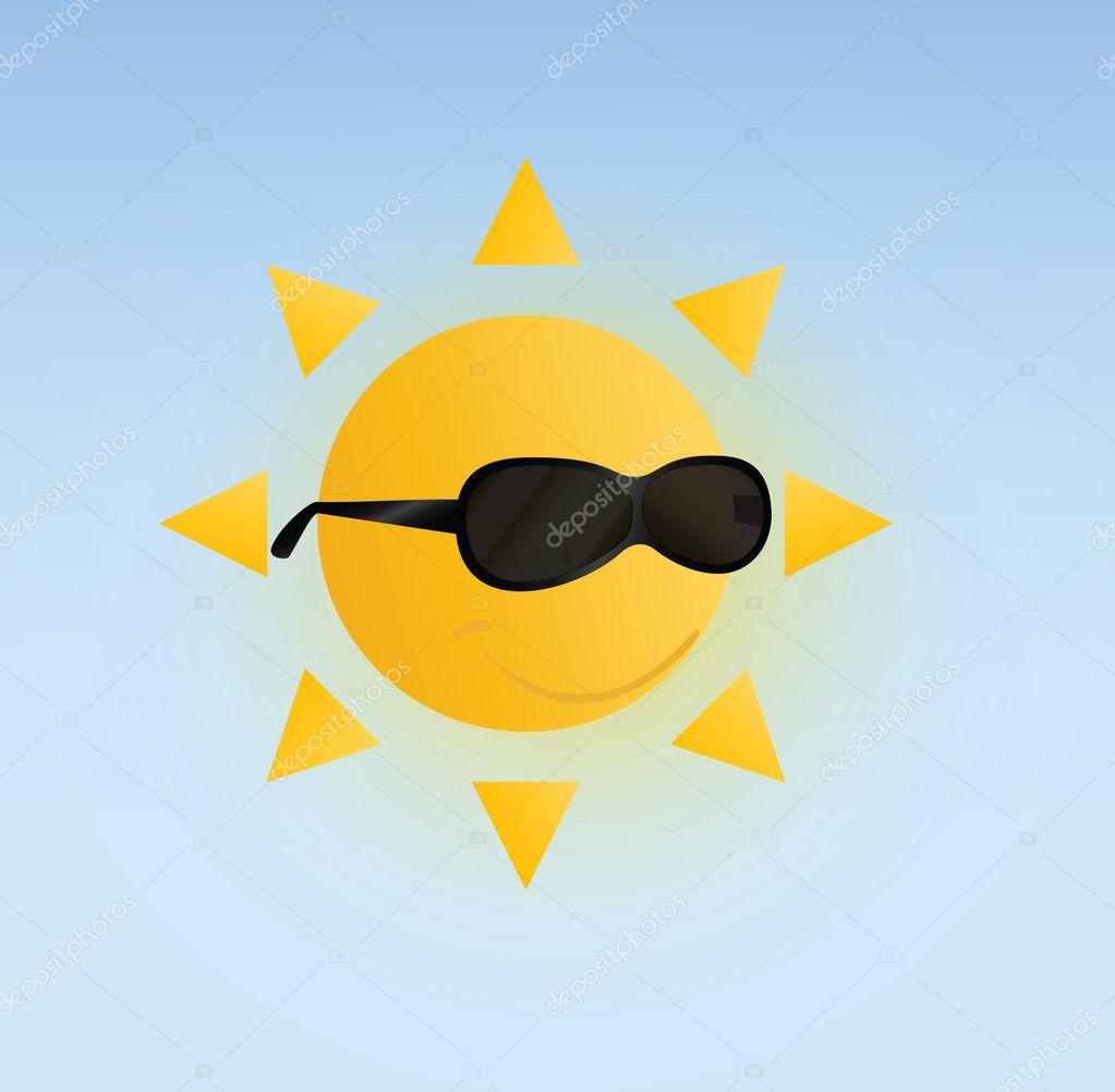 Sun in Glasses Vector