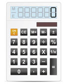 Белый электронный калькулятор векторные иллюстрации — Cтоковый вектор