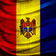 Stock Photo: Grunge flag Republic of Moldova