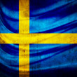 Stock Photo: Grunge flag Sweden