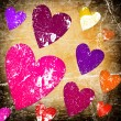 Stock Photo: Art background with hearts