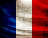 Grunge drapeau france — Photo
