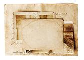 Vintage photo on white background — Stock Photo