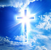 Błękitny krzyż — Zdjęcie stockowe