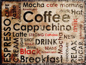 Sorts of coffe background — Stock Photo