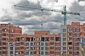 Building construction and nice blue sky — Stock Photo