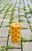 Una candela accesa nel parco — Foto Stock