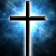 Stock Photo: Glowing cross