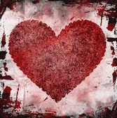 Grunge kalp — Stok fotoğraf