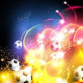 Fondo de arte abstracto de fútbol — Vector de stock