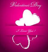 Fundo de dia dos namorados vetor roxa com corações — Vetorial Stock