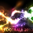 Neon banner football - Stock Vector